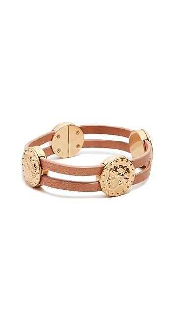 Tory Burch Coin Single Wrap Bracelet
