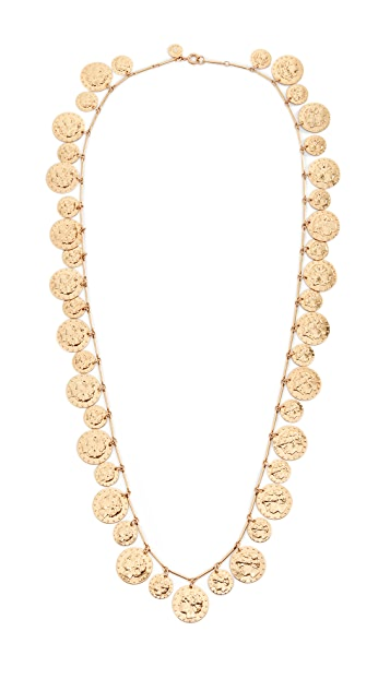 Tory Burch Coin Rosary Necklace