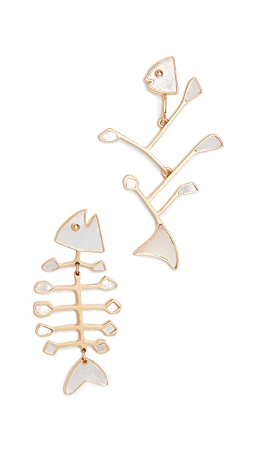Tory Burch Small Fish Earrings