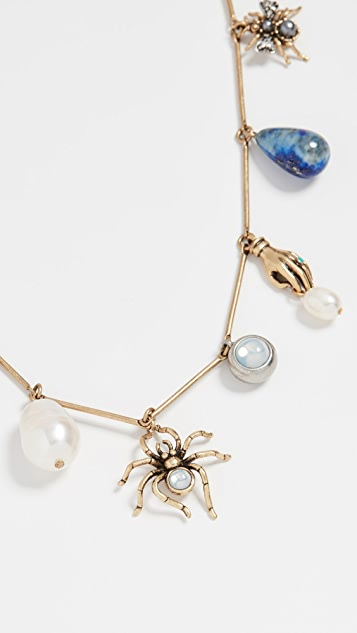 Tory Burch Collection Necklace - Brass/Multi