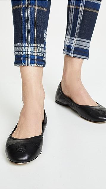 Tory Burch Балетки с контрастным носком