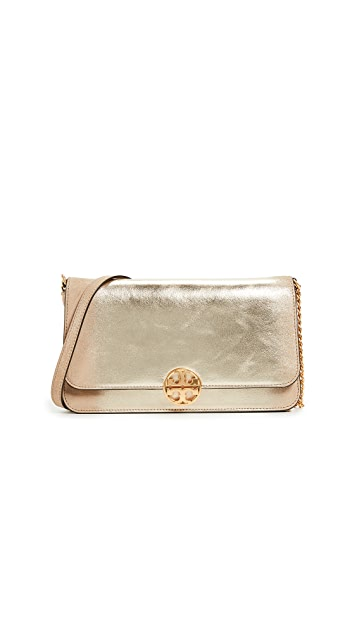 Tory Burch Chelsea Metallic Convertible Clutch