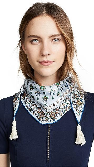 Tory Burch Шелковый шарф Soleil Diamond