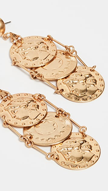 Tory Burch Coin Drop Earrings