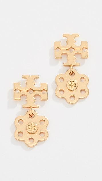 Tory Burch Logo Charm Earrings