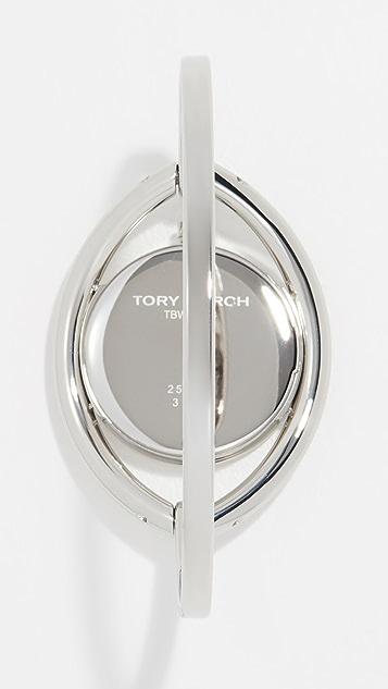 Tory Burch Часы с браслетом-бэнгл, дурным глазом и циферблатом диаметром 31мм