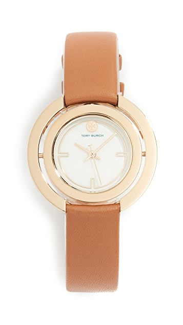 Tory Burch Grier Leather Watch, 34mm