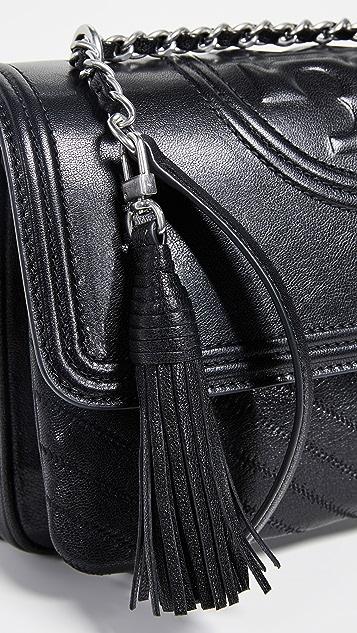 Tory Burch Fleming Distressed Flap Shoulder Bag