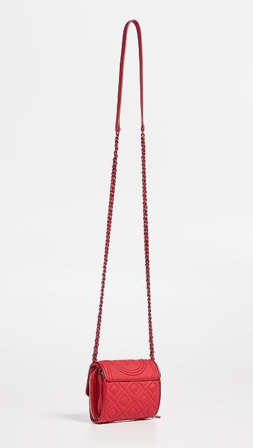Tory Burch Матовый миниатюрный кошелек Fleming с цепочкой