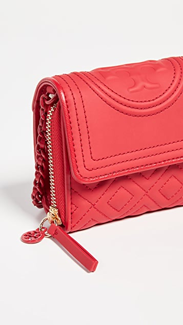 Tory Burch Fleming Matte Mini Chain Wallet