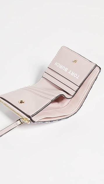Tory Burch Миниатюрный кошелек из холщовой ткани Gemini Link