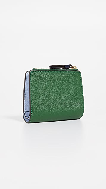 Tory Burch Robinson Colorblock Mini Wallet