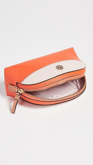 Tory Burch Robinson Colorblock Small Makeup Bag