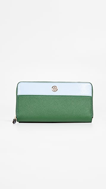 Tory Burch Robinson Colorblock Zip Continental Wallet