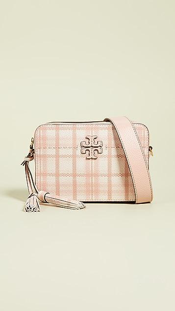 Tory Burch McGraw Plaid Camera Bag
