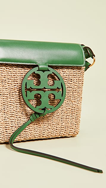 Tory Burch Miller Straw Crossbody Bag