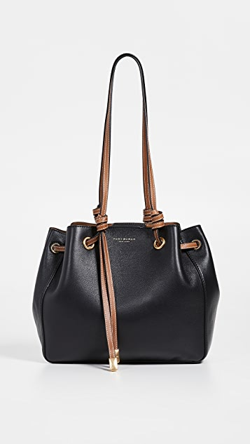 Tory Burch Caroline Small Carryall Tote - Black