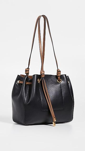 Tory Burch Маленькая объемная сумка с короткими ручками Caroline