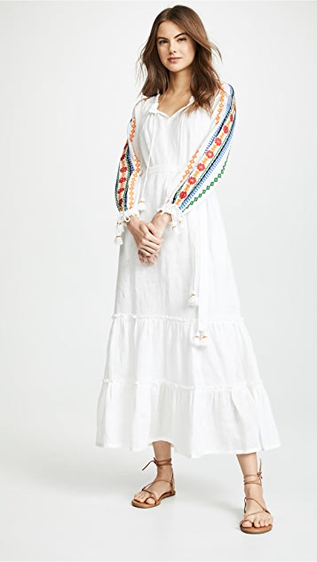 Tory Burch Embroidered Dress - White