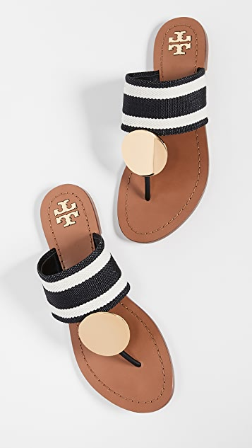 ea9eff05bfa Tory Burch Patos Disk Sandals ...