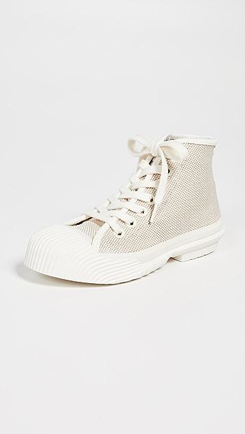 Tory Burch Cap Toe High Top Sneakers