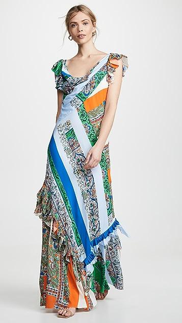 Tory Burch 拼缝印花连衣裙