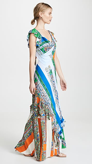 Tory Burch Patchwork Printed Dress