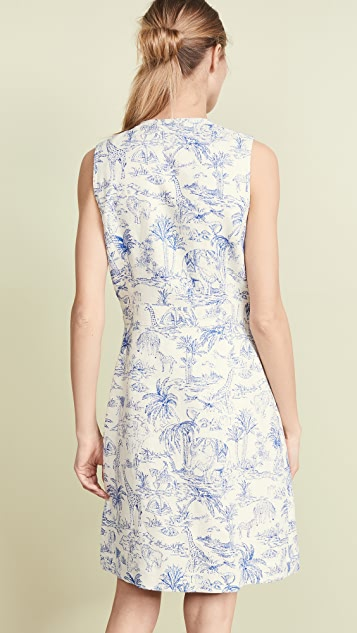 Tory Burch Printed Linen Shift Dress