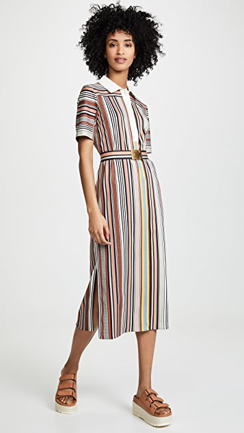 9d453d89625e Tory Burch Striped Polo Dress