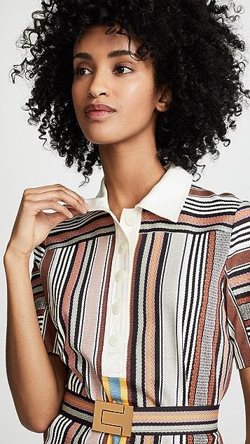 1479f95d76c4 ... Tory Burch Striped Polo Dress ...