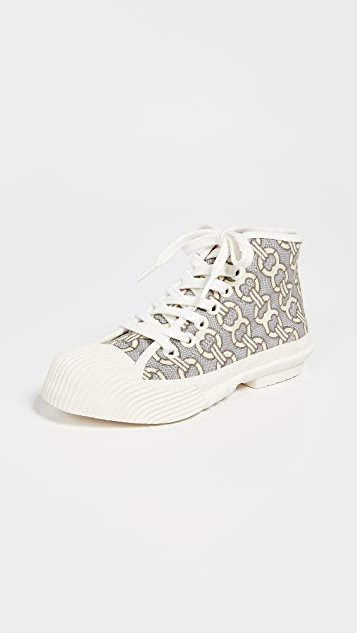 Tory Burch Cap Toe High Top Sneakers