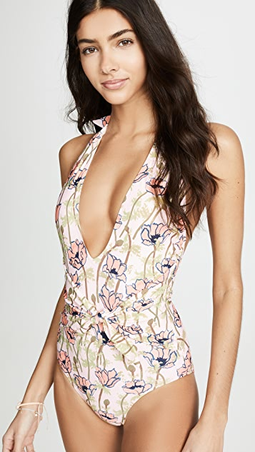 Tory Burch Tie Front One Piece
