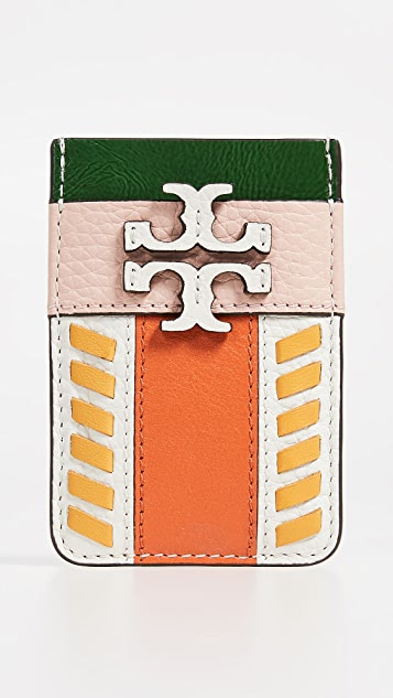 Tory Burch McGraw Pieced Card Pocket - Pink/Mango