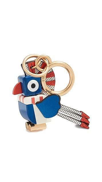 Tory Burch Брелок для ключей с изображением тукана