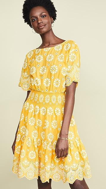 Tory Burch Flower Dress - Yellow
