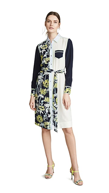 Tory Burch Mixed Media Shirtdress