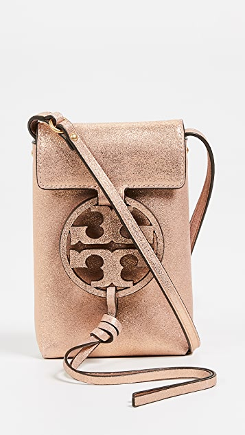 Tory Burch Miller Metallic Crossbody Phone Pouch