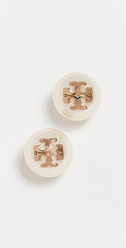 Tory Burch - 水晶珍珠耳钉