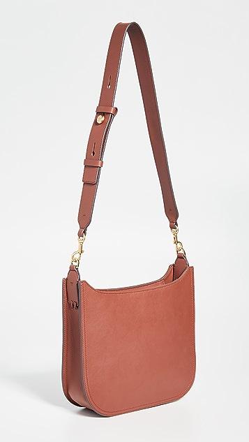 Tory Burch Плоская сумка через плечо Ella с обметочными стежками