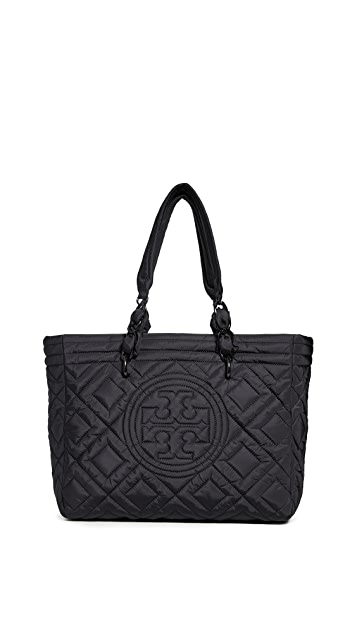 Tory Burch Fleming Quilted Nylon Small Tote