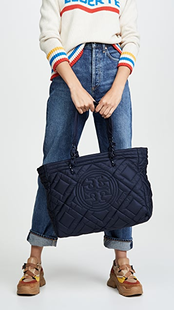Tory Burch Fleming Quilted Nylon Tote