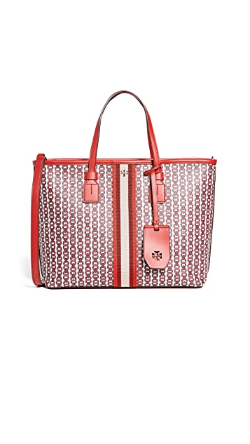 Tory Burch Gemini Link Canvas Small Tote Bag