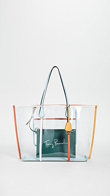 Tory Burch Perry PVC Oversized Tote Bag