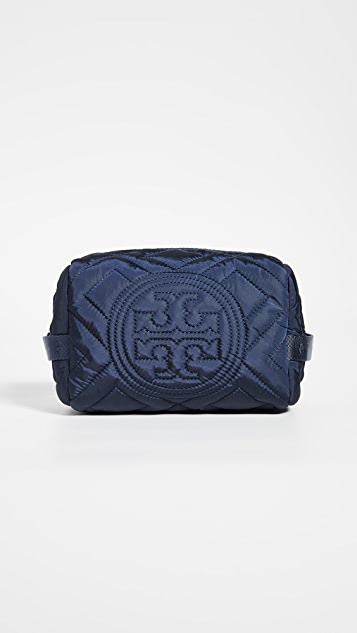 Tory Burch Fleming Quilted Nylon Cosmetic Case