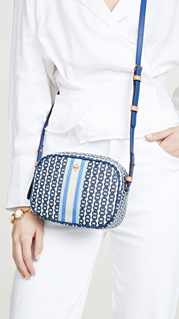 Tory Burch Gemini Link Canvas Mini Bag