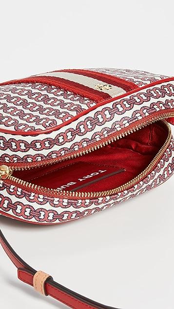 Tory Burch Миниатюрная сумка из холщовой ткани Gemini Link