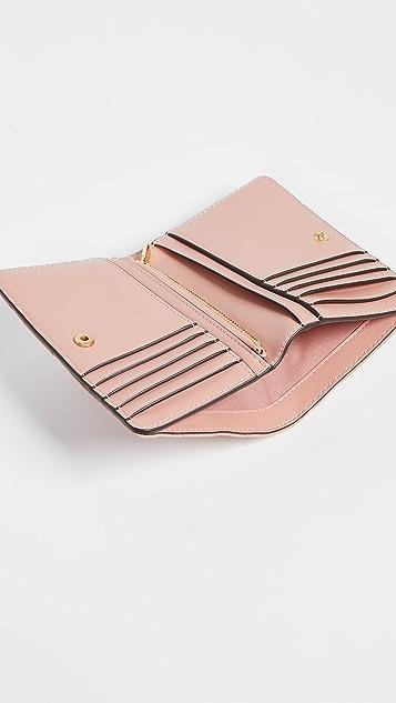 Tory Burch Kira Chevron Medium Slim Wallet
