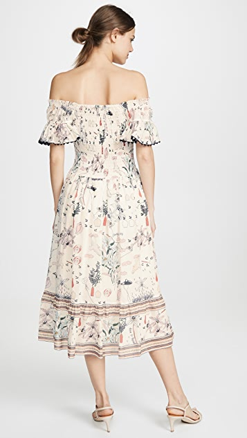 Tory Burch Printed Smocked Dress