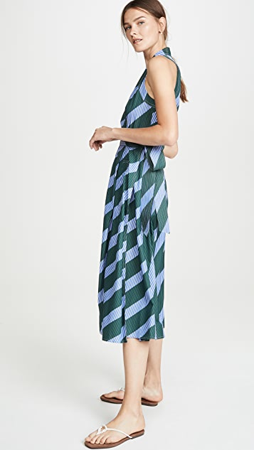 Tory Burch Overprinted Wrap Dress