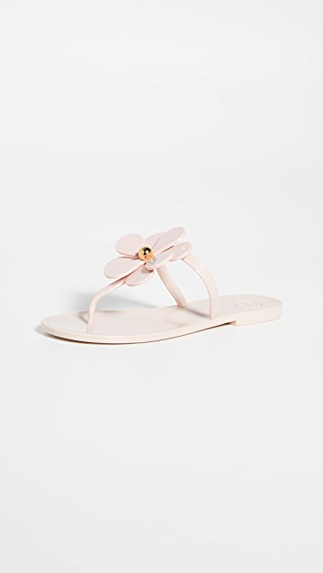 Tory Burch Flower Jelly Thong Sandals